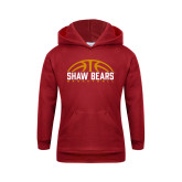 Youth Cardinal Fleece Hoodie-Basketball Half Ball Design