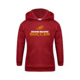 Youth Cardinal Fleece Hoodie-Soccer Shooting Ball