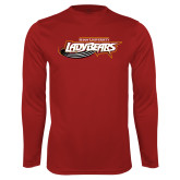 Performance Cardinal Longsleeve Shirt-Lady Bears