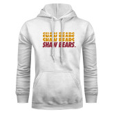 White Fleece Hoodie-Shaw Bears Repeating