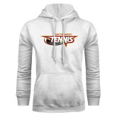 White Fleece Hoodie-Tennis