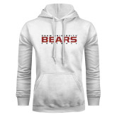 White Fleece Hoodie-Bears Football