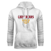 White Fleece Hoodie-Lady Bears Sharp Net Basketball