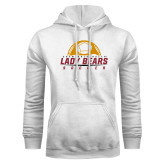 White Fleece Hoodie-Soccer Half Ball Design