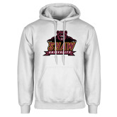 White Fleece Hoodie-Shaw University Primary