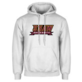 White Fleece Hoodie-Shaw University Stacked Logo