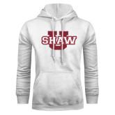 White Fleece Hoodie-Shaw U