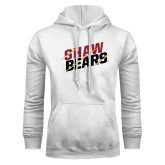 White Fleece Hoodie-Shaw Bears Lined Design