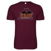 Next Level SoftStyle Maroon T Shirt-Shaw University Primary