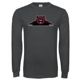 Charcoal Long Sleeve T Shirt-Bear Logo