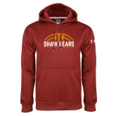 Under Armour Cardinal Performance Sweats Team Hoodie-Basketball Half Ball Design