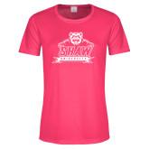 Ladies Performance Hot Pink Tee-Shaw University Primary