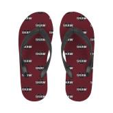 Ladies Full Color Flip Flops-Shaw U