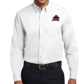 White Twill Button Down Long Sleeve-Shaw University Primary