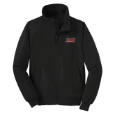 Black Charger Jacket-Shaw University Stacked Logo