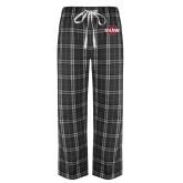 Black/Grey Flannel Pajama Pant-Shaw U