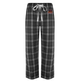 Black/Grey Flannel Pajama Pant-Shaw University Primary