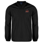 V Neck Black Raglan Windshirt-Shaw University Primary