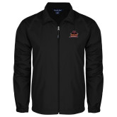 Full Zip Black Wind Jacket-Shaw University Primary