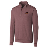 Cutter & Buck Shoreline Maroon 1/2 Zip-Shaw University Primary