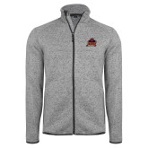 Grey Heather Fleece Jacket-Shaw University Primary
