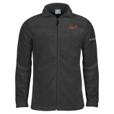 Columbia Full Zip Charcoal Fleece Jacket-Shaw University Stacked Logo