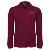 Fleece Full Zip Maroon Jacket-Shaw University Stacked Logo