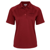 Ladies Cardinal Textured Saddle Shoulder Polo-Shaw Bears