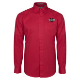 Cardinal Twill Button Down Long Sleeve-Shaw U