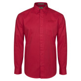 Cardinal Twill Button Down Long Sleeve-Shaw Bears