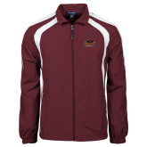 Colorblock Maroon/White Wind Jacket-Shaw University Primary