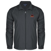 Full Zip Charcoal Wind Jacket-Shaw University Primary