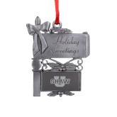 Pewter Mail Box Ornament-Shaw U Logo Engraved