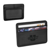 Pedova Black Card Wallet-Shaw U Logo Engraved