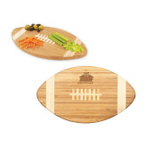 Touchdown Football Cutting Board-Shaw University Primary Engraved