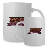 Full Color White Mug 15oz-Shaw University Stacked Logo
