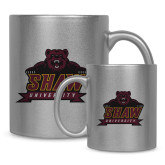 Full Color Silver Metallic Mug 11oz-Shaw University Primary