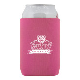 Neoprene Hot Pink Can Holder-Shaw University Primary