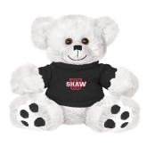 Plush Big Paw 8 1/2 inch White Bear w/Black Shirt-Shaw U