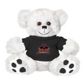 Plush Big Paw 8 1/2 inch White Bear w/Black Shirt-Shaw University Primary