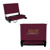 Stadium Chair Maroon-Shaw University Stacked Logo