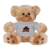 Plush Big Paw 8 1/2 inch Brown Bear w/Grey Shirt-Shaw University Primary