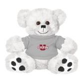 Plush Big Paw 8 1/2 inch White Bear w/Grey Shirt-Shaw U