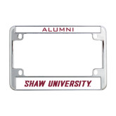 Metal Motorcycle License Plate Frame in Chrome-Shaw U Logo
