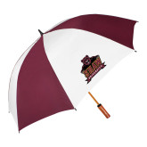 62 Inch Maroon/White Vented Umbrella-Shaw University Primary