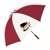 62 Inch Cardinal/White Umbrella-Primary Mark
