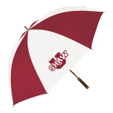 62 Inch Cardinal/White Umbrella-Shaw U