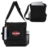 Impact Vertical Black Computer Messenger Bag-Shaw U