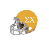 Riddell Replica Gold Mini Helmet-Sigma Chi Greek Letters
