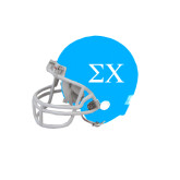 Riddell Replica Light Blue Mini Helmet-Sigma Chi Greek Letters